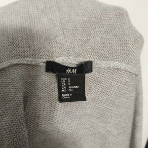 H&M Sweaters - H&M gray open front oversized cardigan wool blend